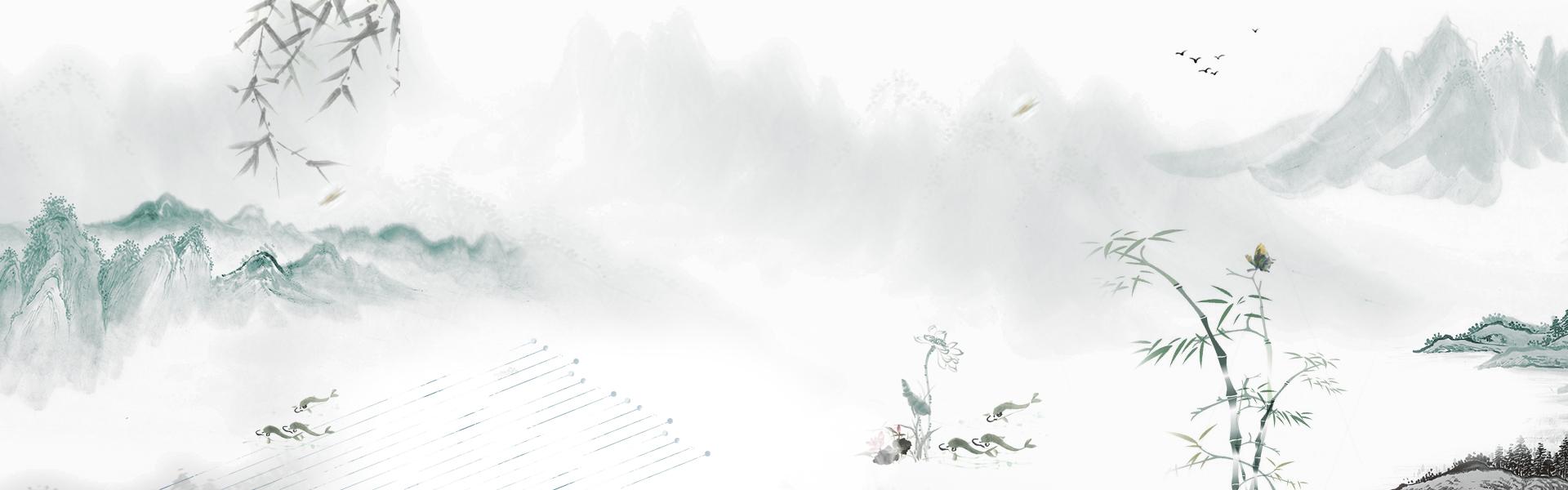 浅色国画背景素材