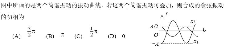 2021知到答案 大学物理C(上) 完整智慧树网课章节测试答案